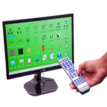 Digital visual acuity chart Full HD display from LG  Built in videos and pictures Multimedia Access